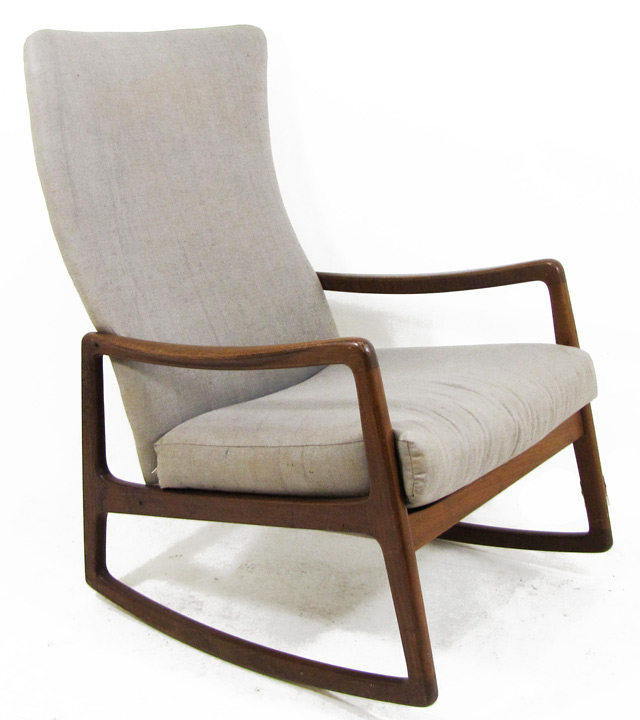 ... Danish Modern rocking chair (above) featured on my Modern Vintage
