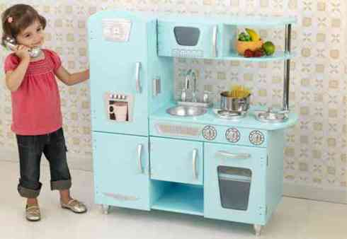 kidkraft vintage kitchen in blue (new?)
