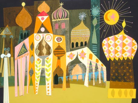 It's A Small World - Gold Moroccan Facade, available at Oopsy Daisy